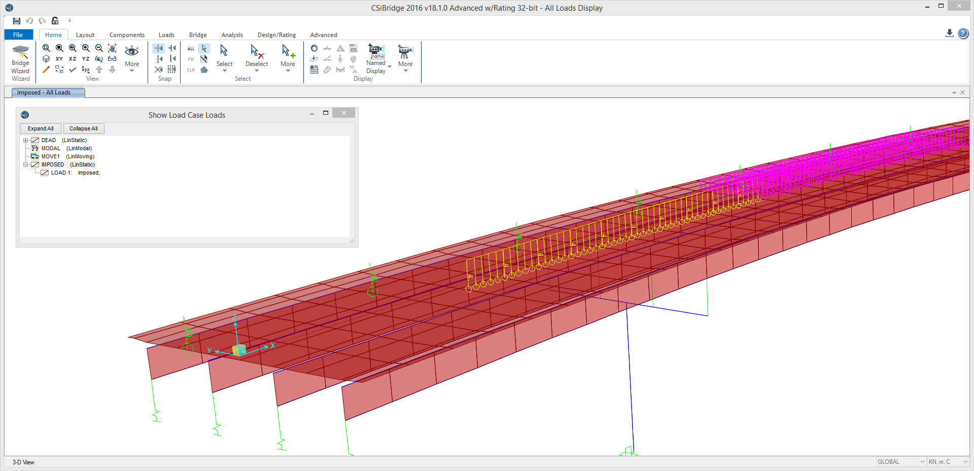 Recent Enhancements Csibridge This Picture Shows A Simple Schematic Of Beam Bridge It Is All Load Types In Case Can Be Graphically Displayed Single View