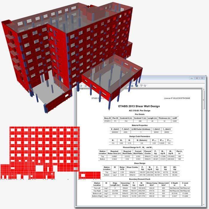 Shear Wall Design Download : Etabs csi ace hellas s a