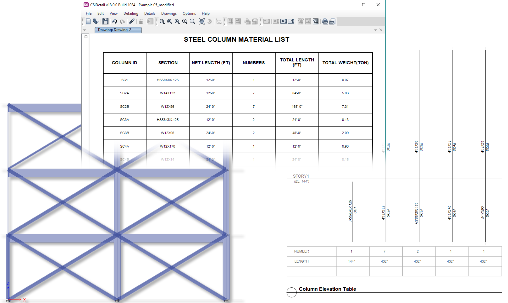Structural Detailing and Drawing Generation Software | CSiDetail